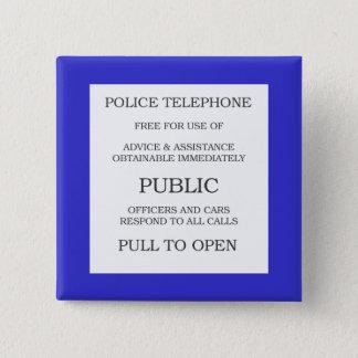 Badges Signe public de cabine téléphonique