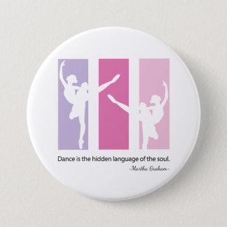 Badges Silhouette de ballerine dans le rose