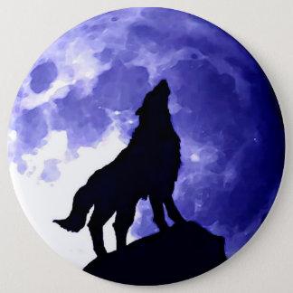 Badges Silhouette de loup et pleine lune
