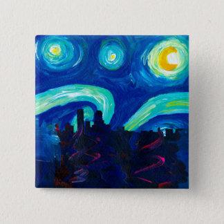 Badges Silhouette d'horizon de Denver la nuit étoilé