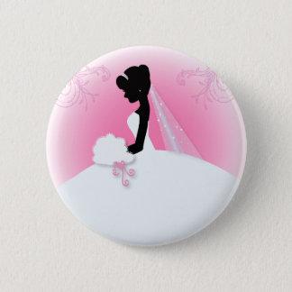 Badges Silhouette nuptiale de jeune mariée de Mme Right