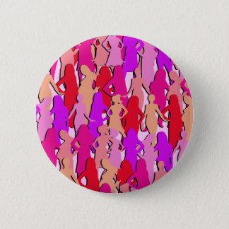 Badges Silhouette rose de femmes
