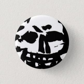Badges Skull button blanchir à la chaux le noir