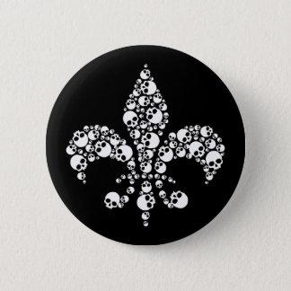 Badges Skull Fleur De Lis