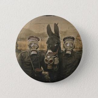 Badges Soldats âne et masques de gaz