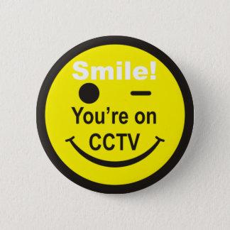 Badges Sourire vous êtes sur la télévision en circuit