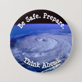Badges Soyez bouton sûr d'ouragan