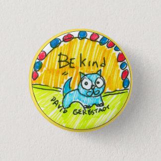 Badges Soyez chat bleu aimable