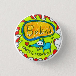 Badges Soyez chien bleu aimable avec le coeur