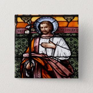 Badges St Joseph prient pour nous - la fenêtre en verre t