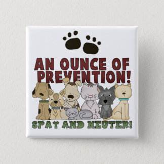 Badges Stérilisez et changez votre bouton d'animaux