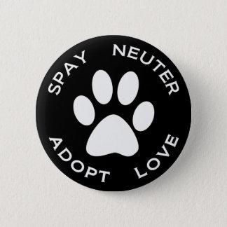 Badges Stérilisez le neutre adoptent l'amour
