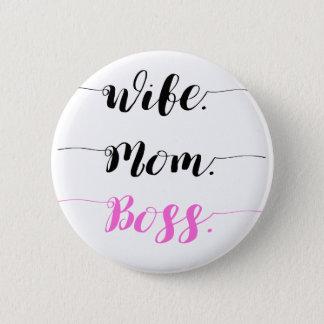 Badges Style de calligraphie de patron de maman d'épouse
