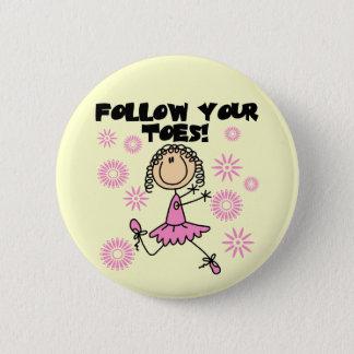 Badges Suivez vos T-shirts et cadeaux de ballerine
