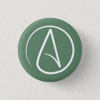 Badges Symbole athée : blanc sur le vert sauge