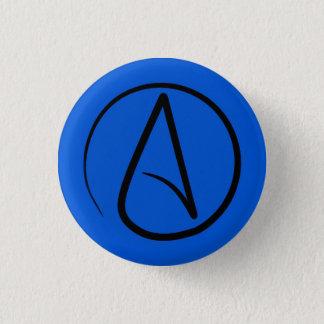 Badges Symbole athée : noir sur le bleu royal