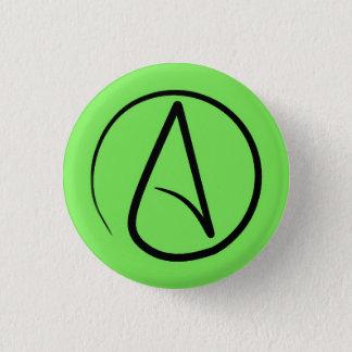 Badges Symbole athée : noir sur le vert de chaux