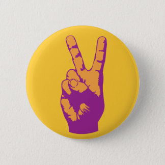 Badges Symbole de main de victoire, de paix et d'harmonie