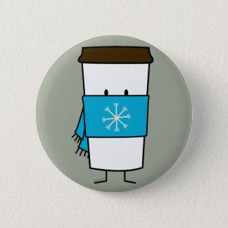 Badges Tasse de café heureuse utilisant une écharpe