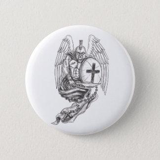 Badges Tatouage spartiate de chapelet de bouclier d'ange