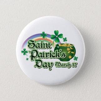 Badges Texte du jour de St Patrick heureux