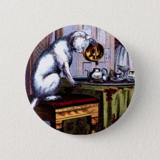 Badges Thé se renversant de chat