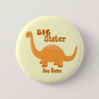 """Badges Touche """"IMPRESSION"""" de dinosaure de grande soeur"""