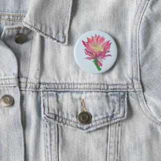 """Badges Touche """"IMPRESSION"""" rose de fleur de cactus"""