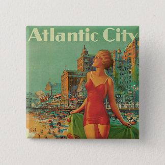 Badges Toute la station de vacances d'année d'Atlantic