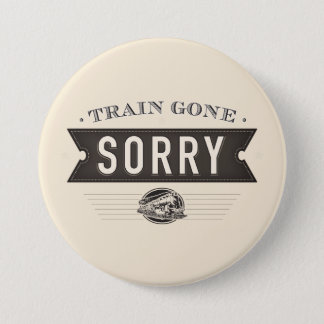 Badges Train allé désolé. Bouton d'idiome d'ASL