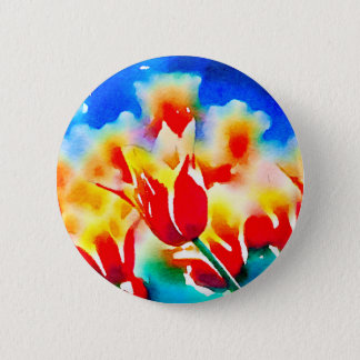 Badges Tulipes d'aquarelle