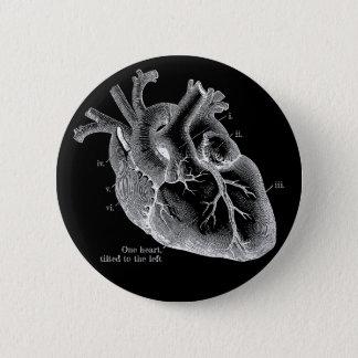 Badges Un coeur, incliné vers la gauche