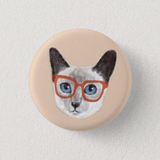 Badges Verres de port peints à la main de chat siamois de