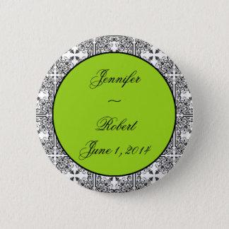 Badges Vert de chaux de plaisir de damassé