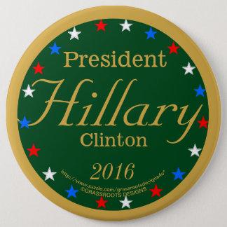 Badges Vert de partie du Président Hillary Clinton 2016