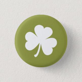 Badges Vert olive avec le shamrock irlandais