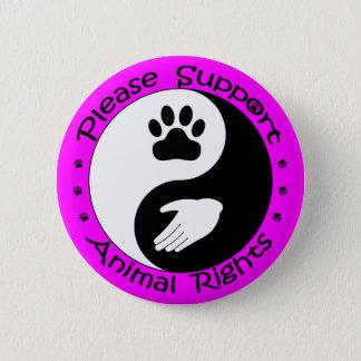 Badges Veuillez soutenir le bouton de droits des animaux