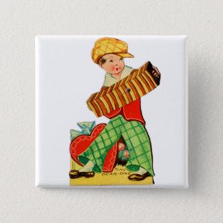 Badges Vieil accordéon vintage de Valentine Little Boy