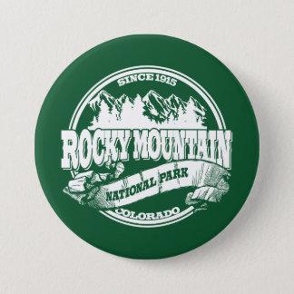 Badges Vieux vert de cercle de montagne rocheuse