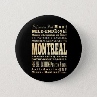 Badges Ville de Montréal d'art de typographie du Canada