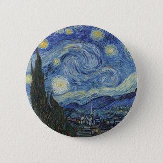 Badges Vincent van Gogh | la nuit étoilée, juin 1889