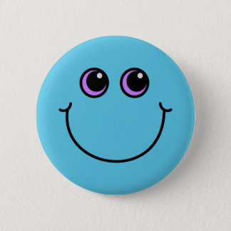 Badges Visage souriant bleu