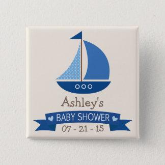 Badges Voilier bleu, baby shower nautique