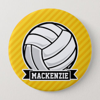 Badges Volleyball sur les rayures jaunes
