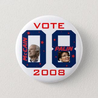 Badges VOTE 2008 de McCain Palin