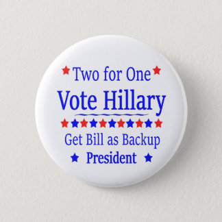 Badges Vote Hillary deux pour une