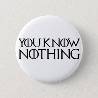 Badges Vous ne savez rien dans une police noire
