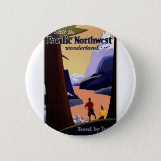 Badges Voyage vintage Pacifique du nord-ouest