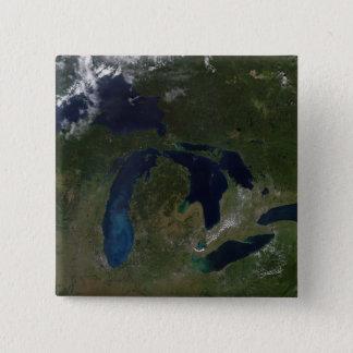 Badges Vue satellite des Great Lakes