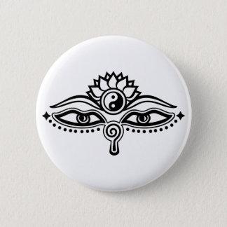 Badges Yeux de Bouddha, de Yin Yang, de sagesse et